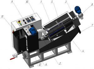 degidrator 300x223 Шнековые обезвоживатели осадка