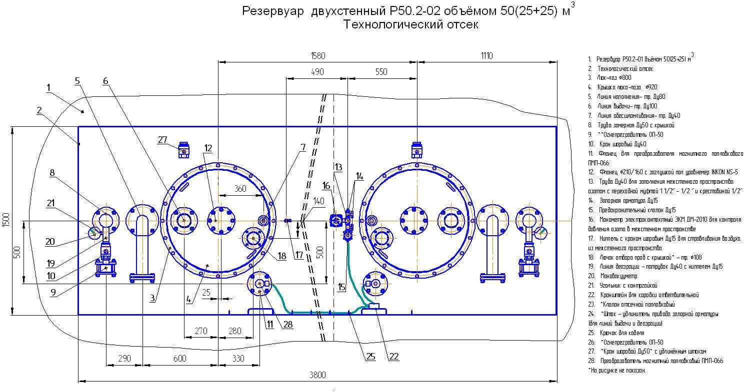 dvustennye emkosti i rezervuary 3 Емкости и резервуары для кислот и агрессивных сред