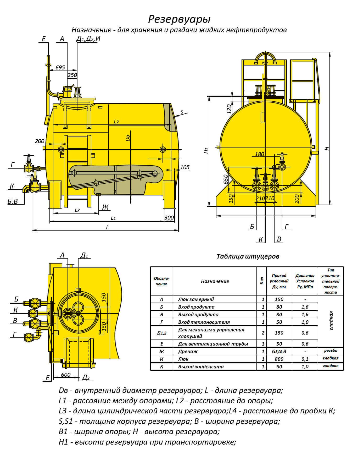 rezervuary i emkosti cilindricheskie rvs rgs 5 Емкости и резервуары для кислот и агрессивных сред