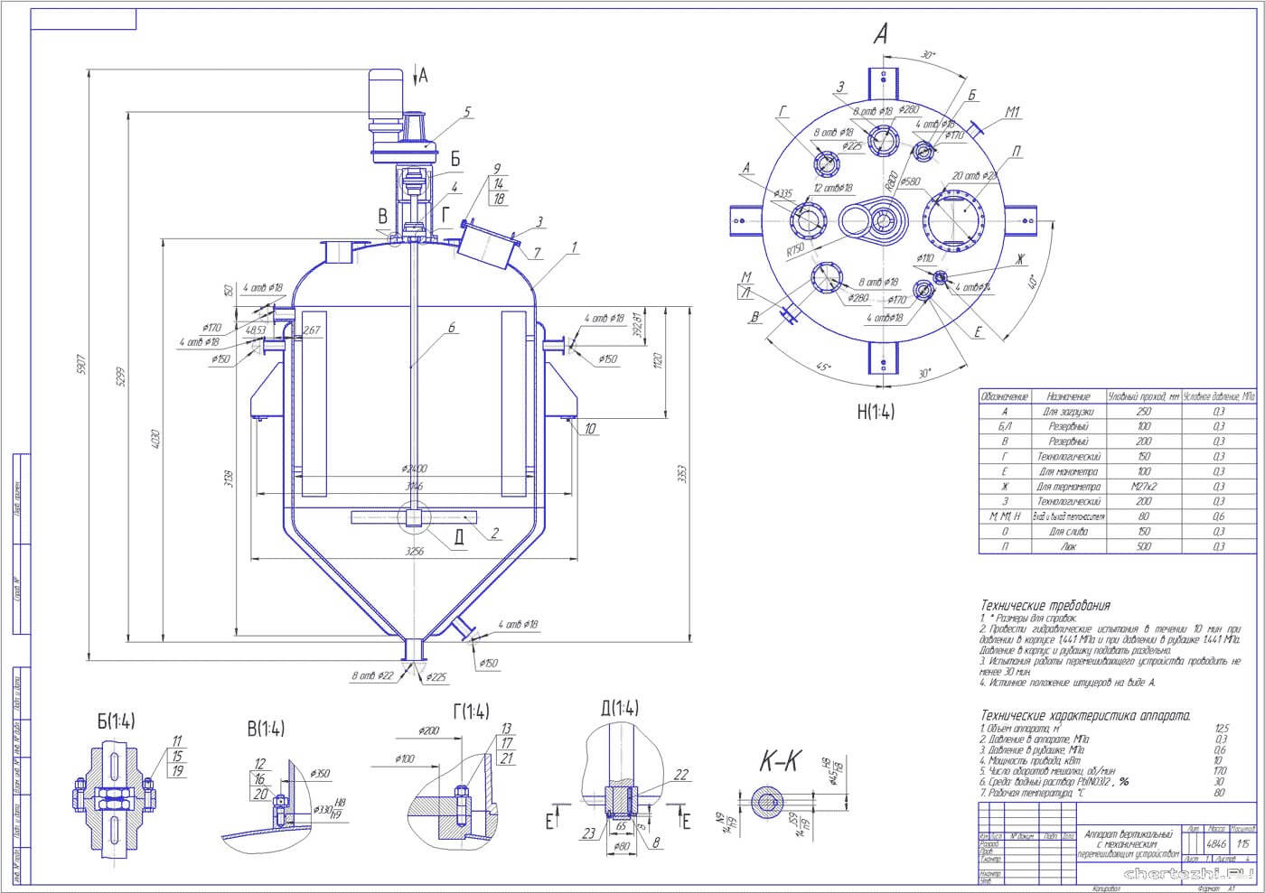 rezervuary i emkosti s meshalkami reaktory 1 Рамные мешалки