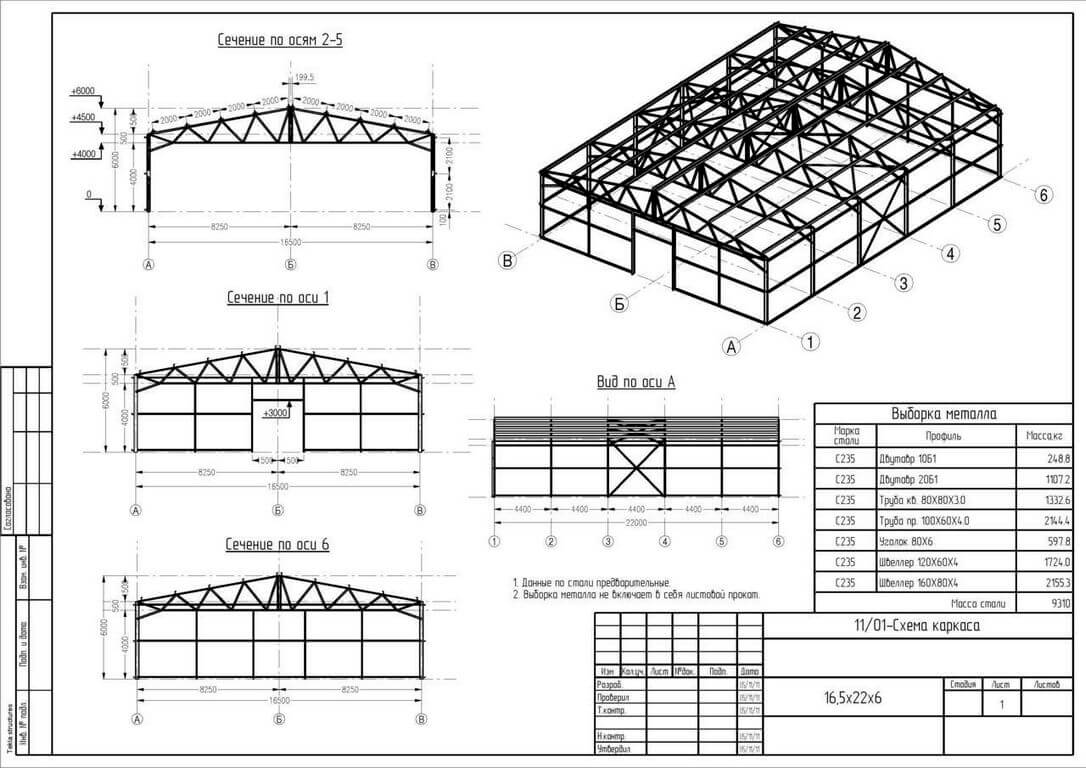 shema karkasa metallokonstrukcii Металлоконструкции фермы