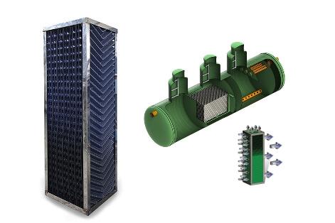 biozagruzka tonkoslojnye moduli tehvodpolimer Коалесцентные модули (загрузки биофильтров)
