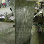 Сороудерживающая решетка решетка из нержавеющей стали AISI 304 с прозором 15мм. Упакована для отгрузки заказчику.