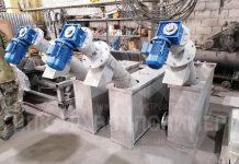 Механическая решетка BAYKAL-M-ШН шнековая наклонная с приёмным баком производительностью до 40 м куб/час.